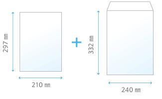 A4サイズ+角2封筒DMイメージ
