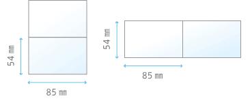 二つ折りタイプカードイメージ
